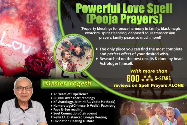 Powerful Love Spell (Pooja Prayers) ⋆ Divination Astrology